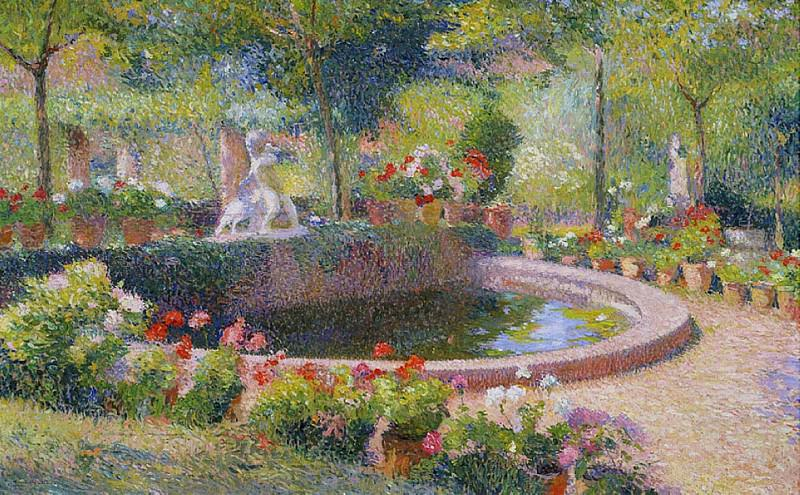 Fountain in Marquayrol. Henri-Jean-Guillaume Martin