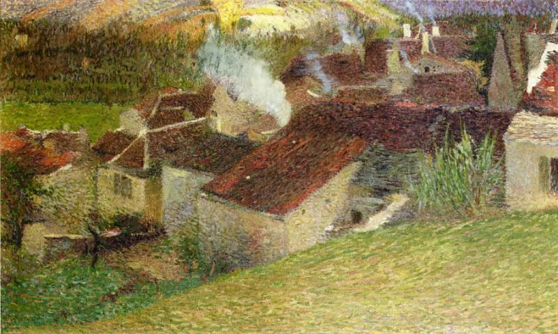 The Center of La Bastide du Vert 1910. Henri-Jean-Guillaume Martin