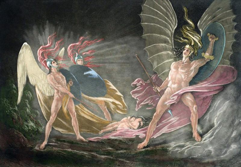 Сатана искушает Еву во сне. «Потеряный рай» Джона Мильтона. Джон Мартин