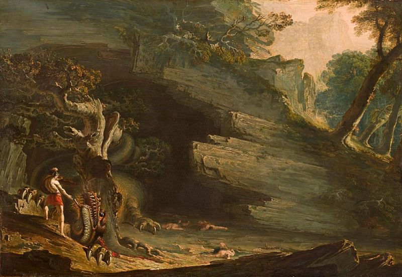 Cadmus and the Dragon. John Martin