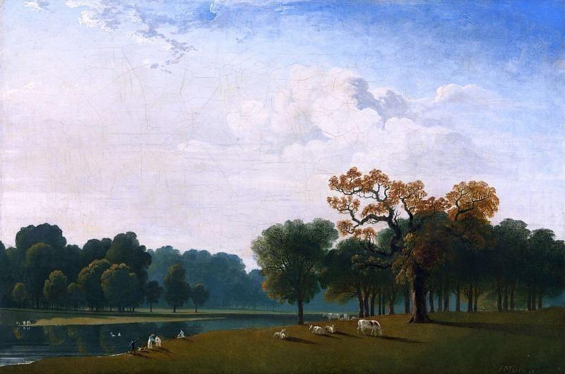 Вид на озеро Серпентин, Кенсингтон-Гарденс. Джон Мартин