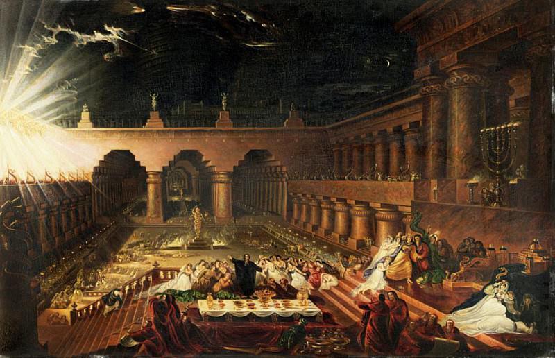 Праздник Белшазар. Джон Мартин