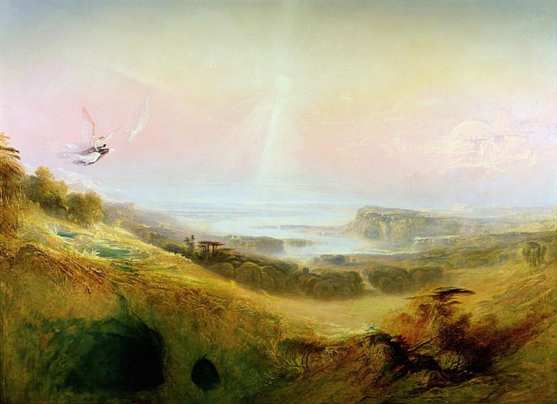 The Celestial City and the River of Bliss. John Martin