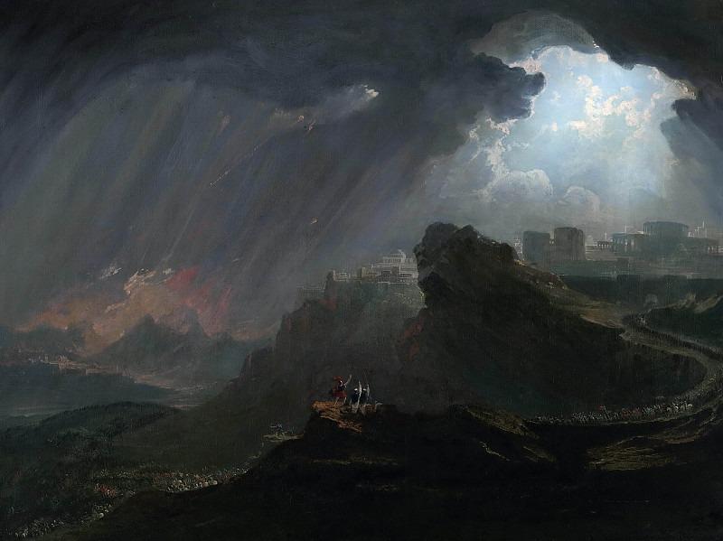 Джошуа приказывает солнцу стоять на месте над Гибеоном. Джон Мартин