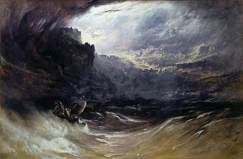 Christ Stilleth the Tempest. John Martin