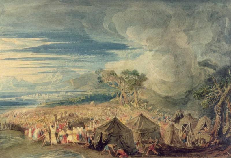 Моисей разделяет воды Красного моря. Джон Мартин