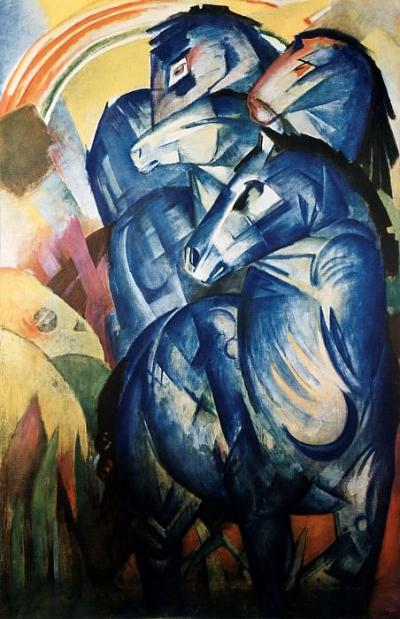 Tower of the Blue Horse (lost in World War II). Franz Marc