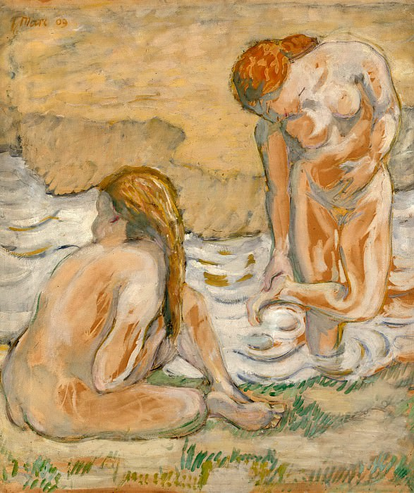 Two bathing women. Franz Marc