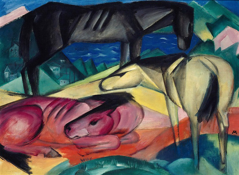 Three Horses II. Franz Marc