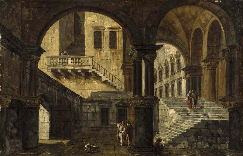 Courtyard in a Renaissance House. Michele Marieschi