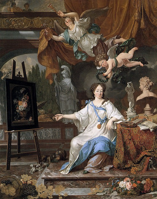 Allegoric portrait of an artist. Van Michiel Musscher