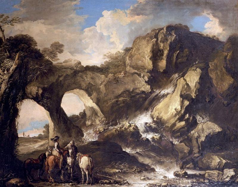 Скалистый пейзаж с солдатами. Антонио Мария Марини