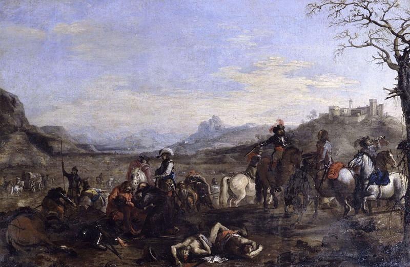 Сцена боя после боя. Антонио Мария Марини
