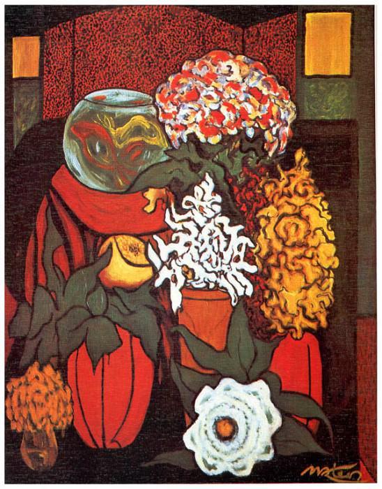 Рыбки и цветы. Франциско Матеос