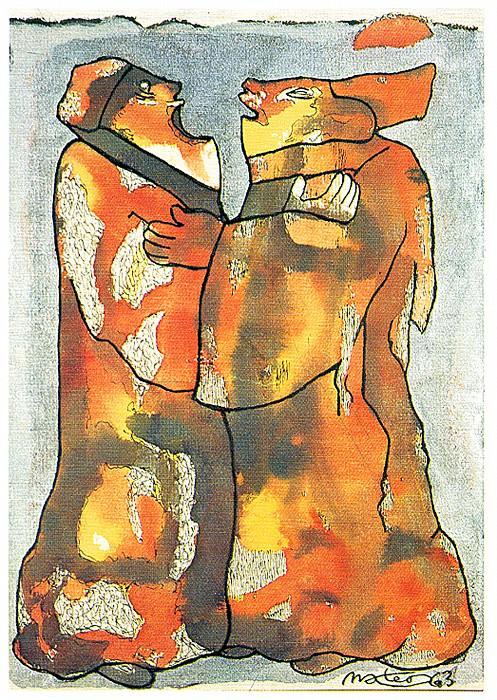 El abrazo. Francisco Mateos