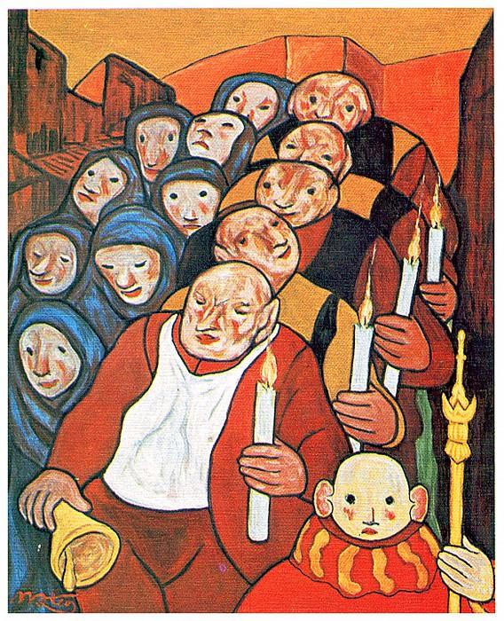 La procesion de las velas. Francisco Mateos