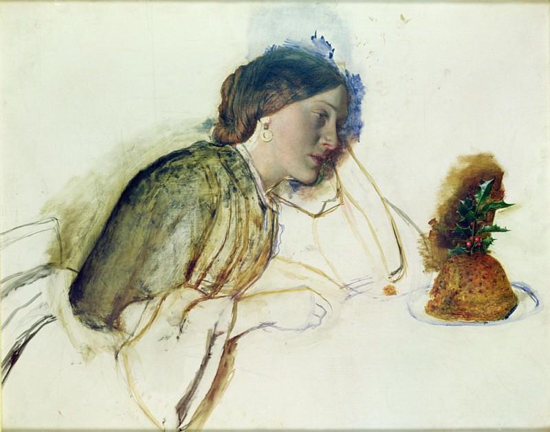 The Poor Actresss Christmas Dinner. Robert Braithwaite Martineau