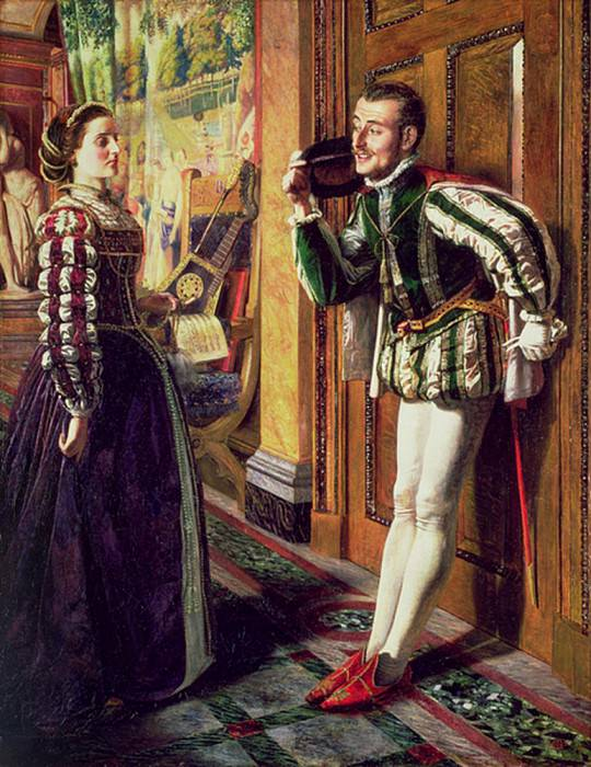The Taming of the Shrew: Katherine and Petruchio. Robert Braithwaite Martineau