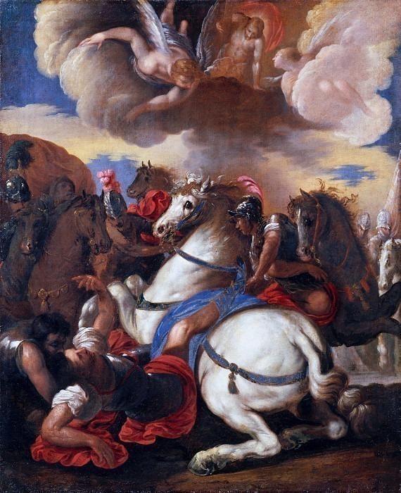 Обращение Святого Павла (копия Франческо Маффеи). Франческо Маффеи (Мастерская)