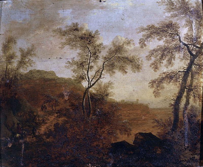 Пейзаж с деревьями и фигурами. Фредерик де Мушерон