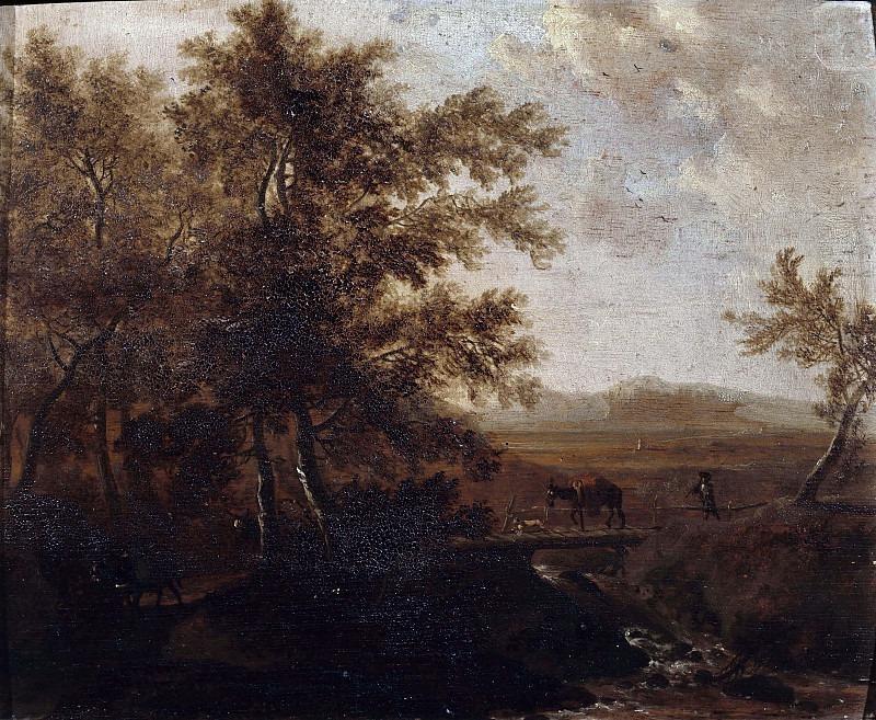 Пейзаж с деревьями и ручьём. Фредерик де Мушерон