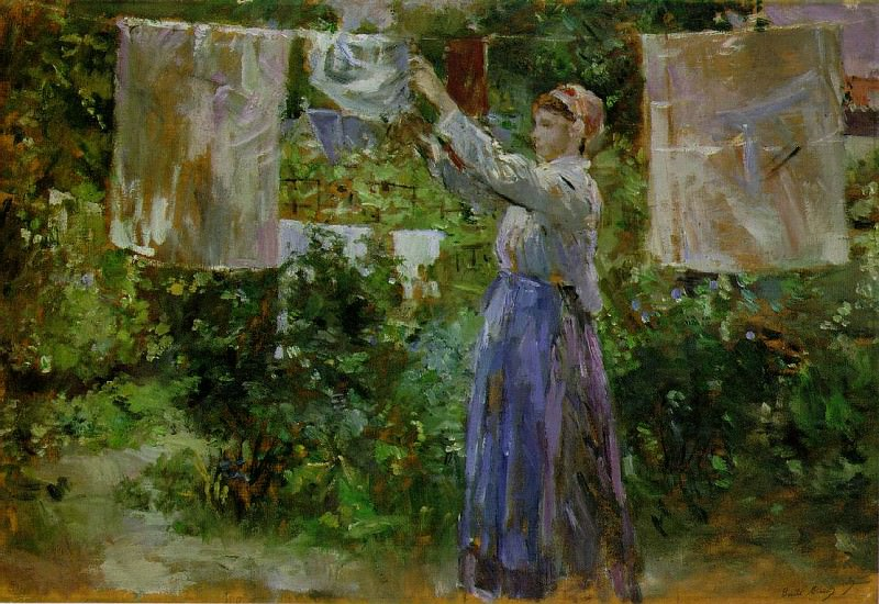 washing. Berthe Morisot