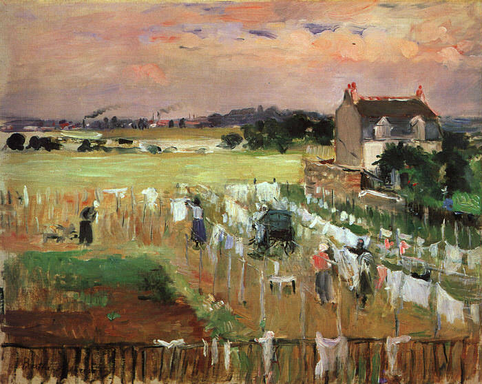 Hanging out the Laundry to Dry. Berthe Morisot