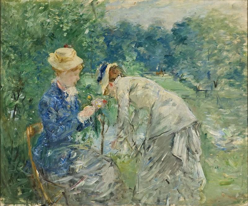 In the Bois de Boulogne. Berthe Morisot