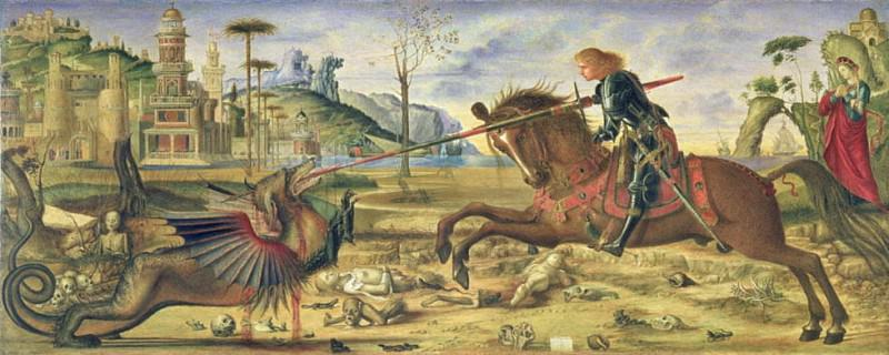 St. George and the Dragon. Charles Fairfax Murray