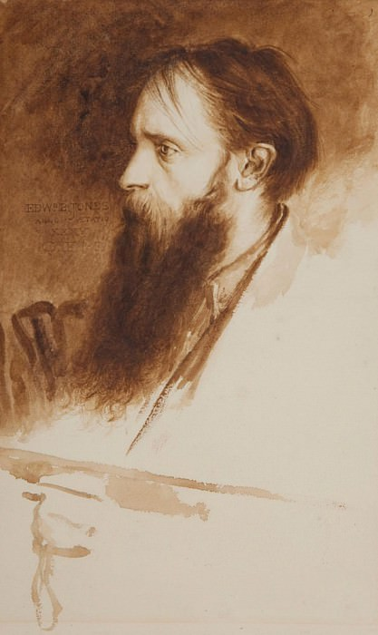 Portrait of Edward Burne-Jones. Charles Fairfax Murray