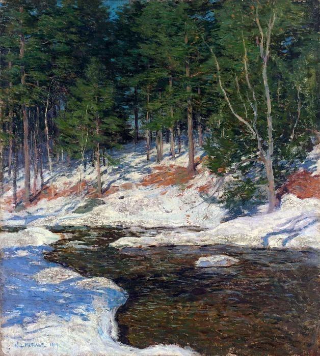 icebound 1909. Willard Leroy Metcalf