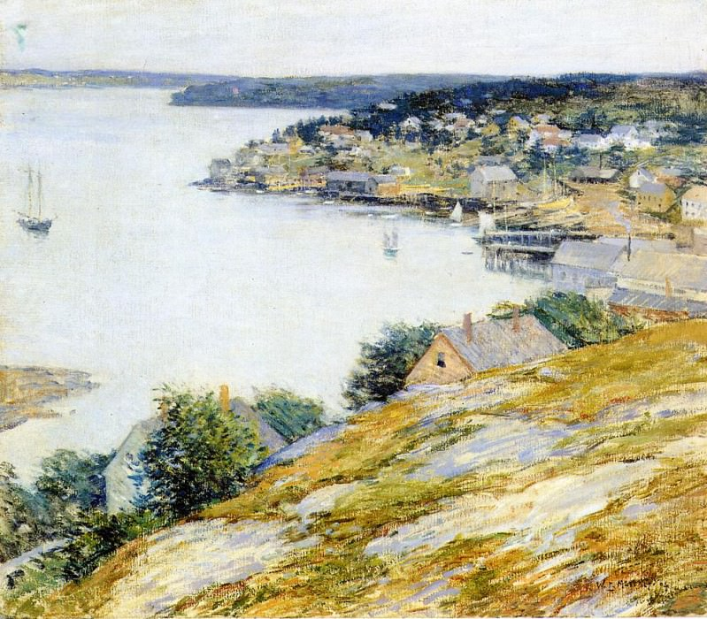 East Boothbay Harbor. Willard Leroy Metcalf