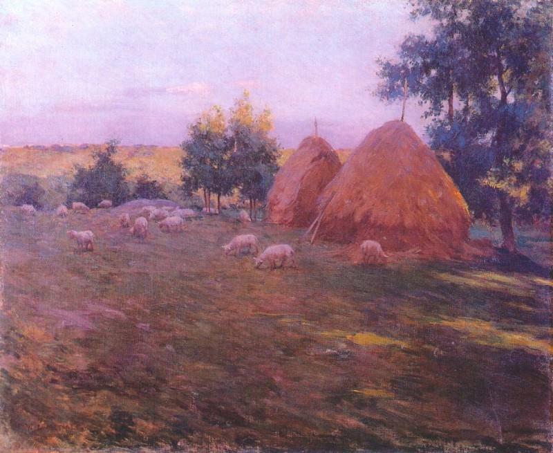 haystacks c1888. Willard Leroy Metcalf