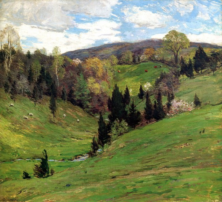 Flying Shadows. Willard Leroy Metcalf
