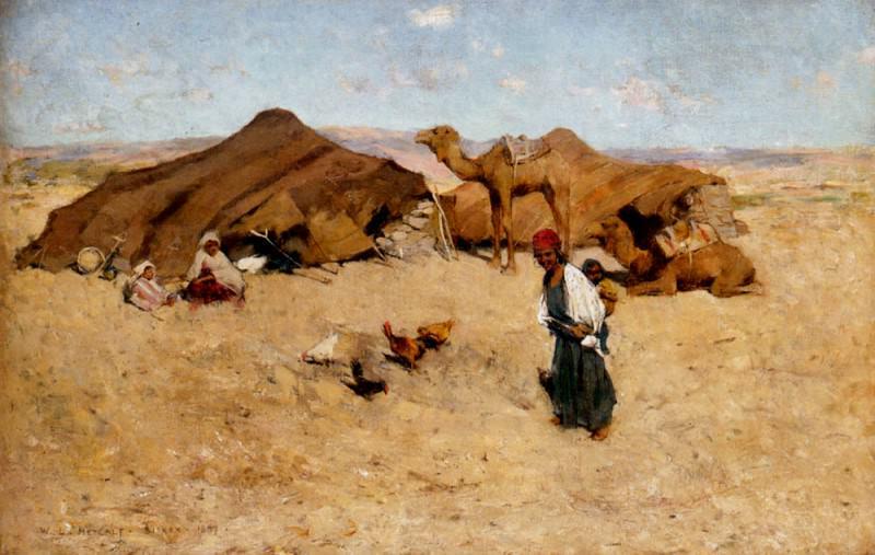 Arab Encampment Biskra. Willard Leroy Metcalf