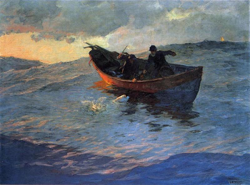 On the Suffolk Coast. Willard Leroy Metcalf