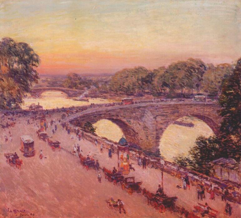 pont royal 1913. Willard Leroy Metcalf