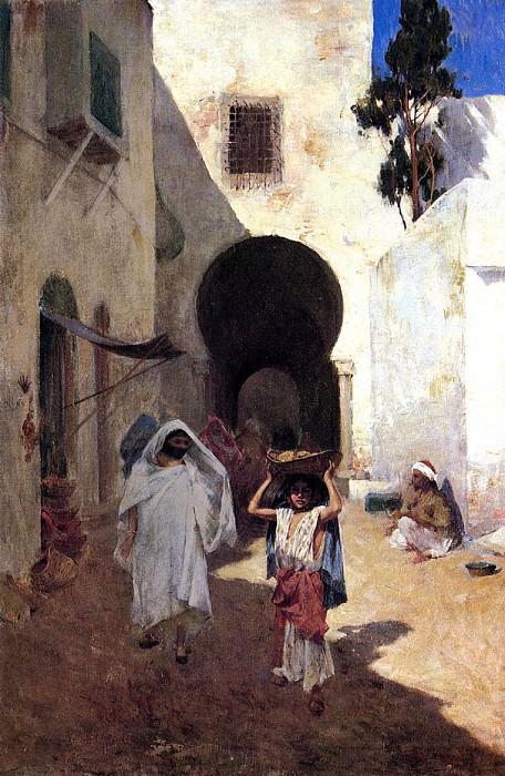Street Scene Tangiers. Willard Leroy Metcalf