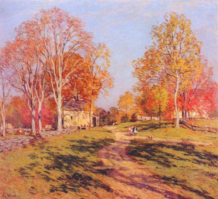 morning shadows 1908. Willard Leroy Metcalf