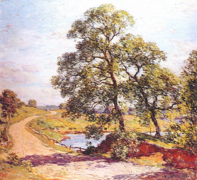 the winding road 1918. Willard Leroy Metcalf