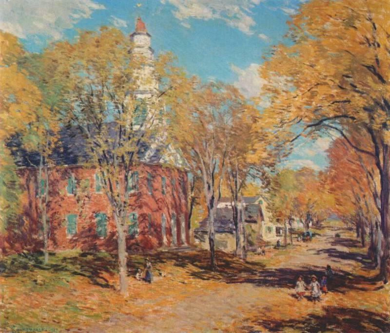 october morning, deerfield 1917. Willard Leroy Metcalf