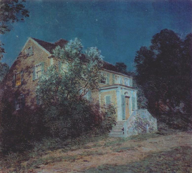 white lilacs 1912. Willard Leroy Metcalf