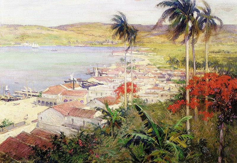 Havana Harbor. Willard Leroy Metcalf