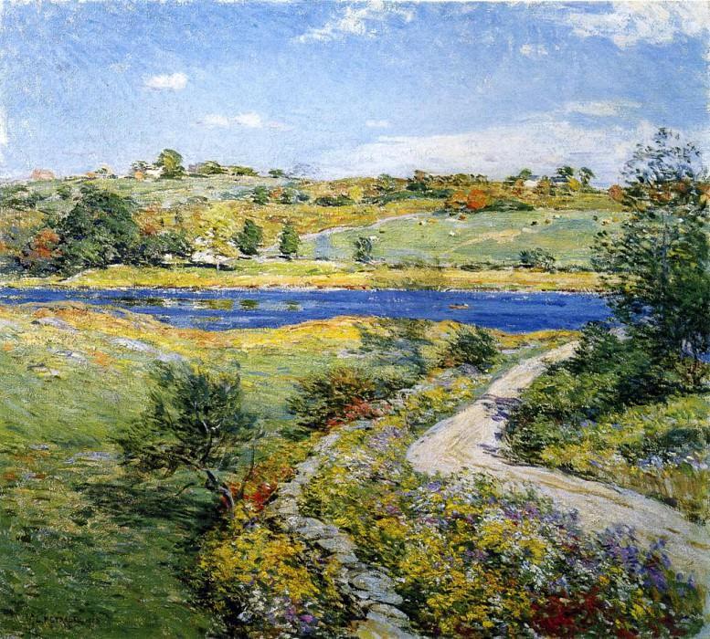 Autumn Roadside. Willard Leroy Metcalf