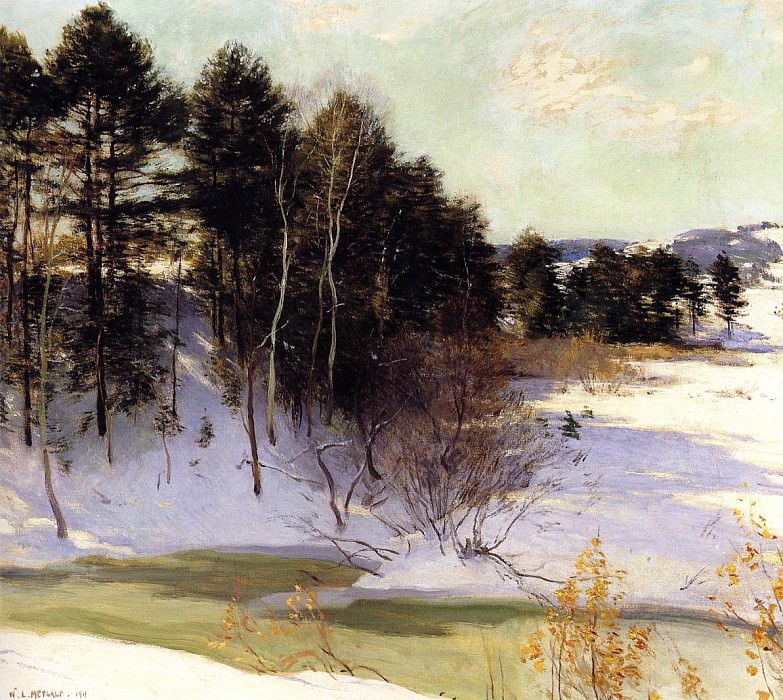 Metcalf Willard L Thawing Brook. Willard Leroy Metcalf