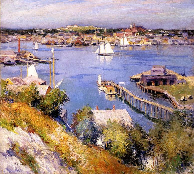 Gloucester Harbor. Willard Leroy Metcalf