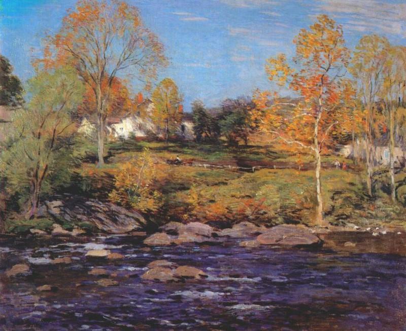 october morning (no 1) 1910. Willard Leroy Metcalf