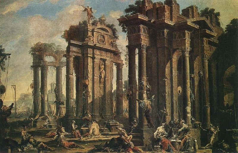 Halt of the Brigands. Alessandro Magnasco
