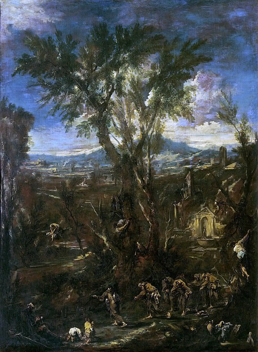 Landscape with Capuchin Friars. Alessandro Magnasco