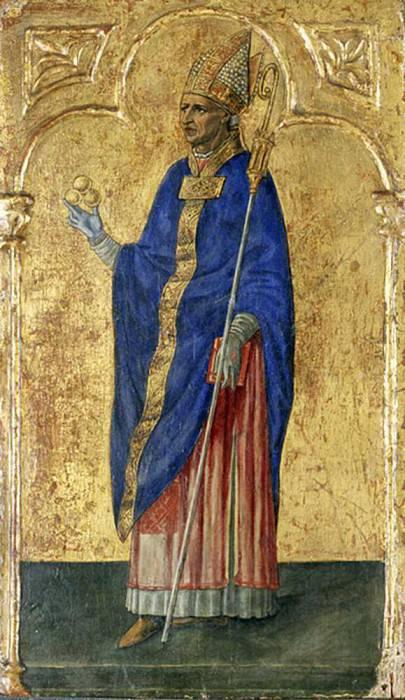 Saint Nicholas of Bari. Matteo di Giovanni di Bartolo